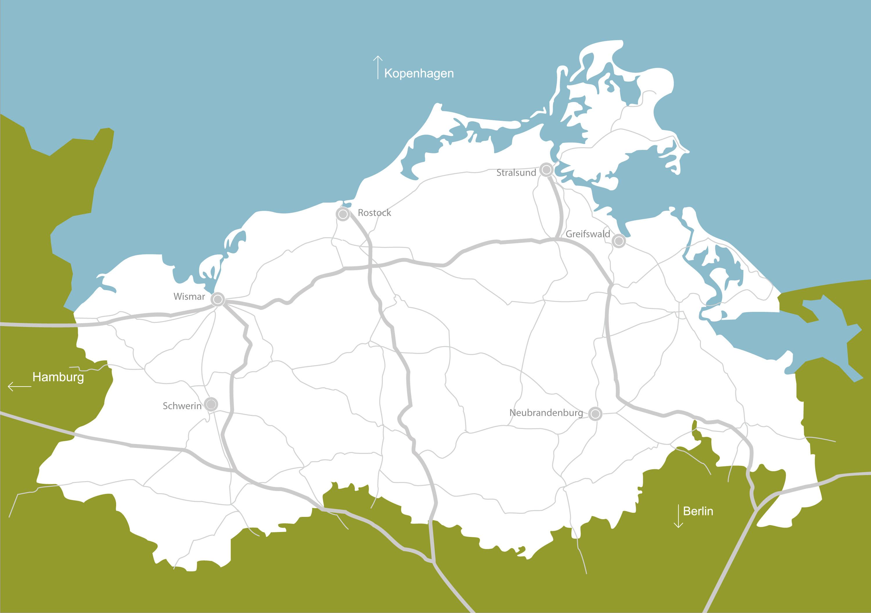Karte Mecklenburg Vorpommern